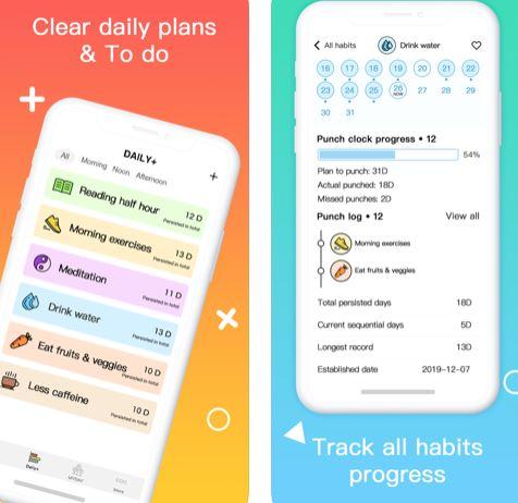 تطبيق Daliy+ Habit Tracker لبناء العادات