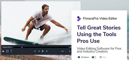 برنامج FilmoraPro - النسخة الاحترافية