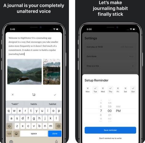تطبيق HighNotes لتدوين الخواطر الشخصية