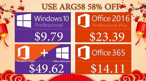 احصل على مفاتيح تفعيل مايكروسوفت ويندوز 10 برو وأوفيس 2019 برو بأرخص الأسعار الممكنة!