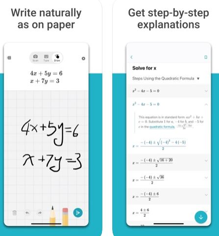 تطبيق Microsoft Math Solver لحل المسائل الرياضية