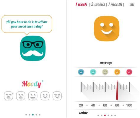تطبيق Moody - لتتبع حالتك المزاجية
