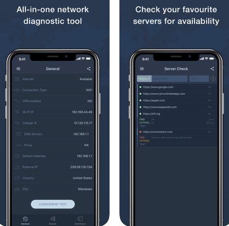 تطبيق Network Tools - لتحليل اتصالك بالإنترنت