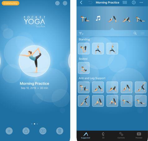 تطبيق Pocket Yoga Teacher لتعلم اليوجا