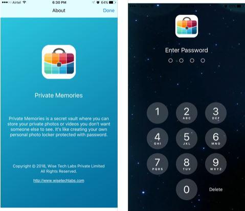 تطبيق Private Memories لإخفاء الصور