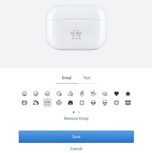 ابل توفر الآن خيار إضافة الوجوه التعبيرية المنقوشة عند شراء سماعات AirPods