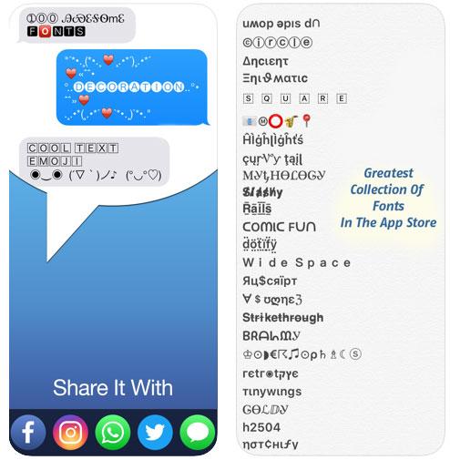 تطبيق Fonts لتزيين النصوص