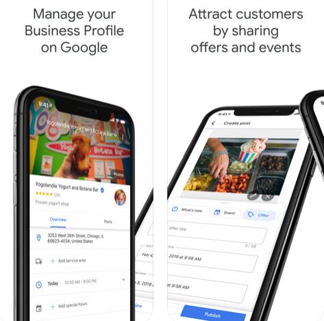 تطبيق جوجل لأصحاب الأعمال والمتاجر Google My Business