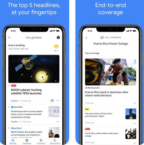 تطبيق Google News الإخباري - بديل أخبار ابل