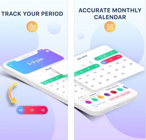 تطبيق Period tracker للسيدات