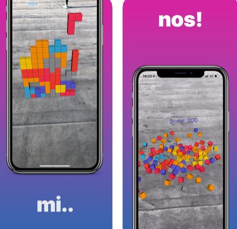 لعبة Tetris AR - لعبة بازل كلاسيكية بتقنية الواقع المعزز، للايفون والايباد!