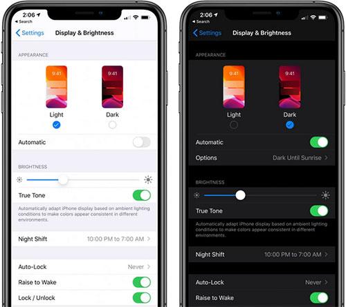 تفعيل الوضع الليلي على الايفون والايباد iOS 13