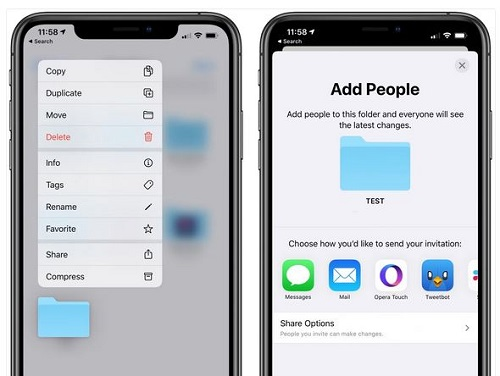 تحديث iOS 13.4 - مشاركة المجلدات عبر الآي كلاود