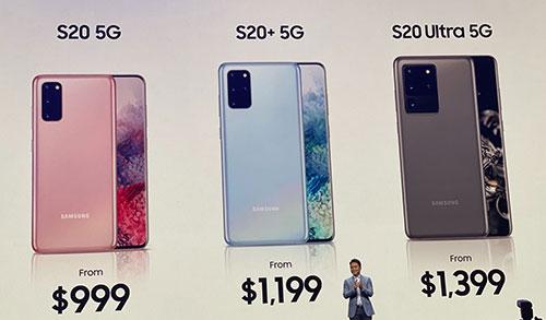 أسعار هواتف Galaxy S20 الجديدة