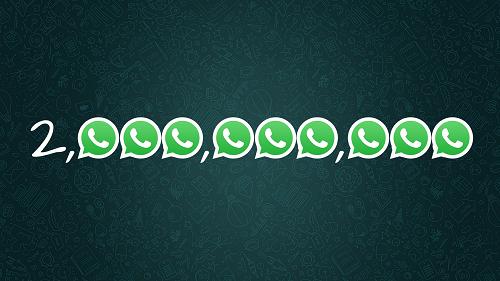 واتس اب الآن لديه 2 مليار مستخدم حول العالم!