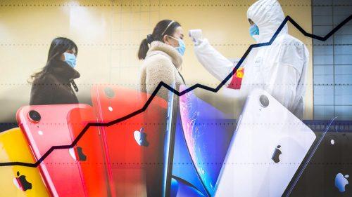 ابل وفيرس كورونا - 100 مليار دولار انخفاض في القيمة السوقية للشركة وأضرار أخرى!