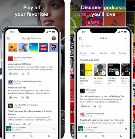 تطبيق جوجل للبودكاست Google Podcasts
