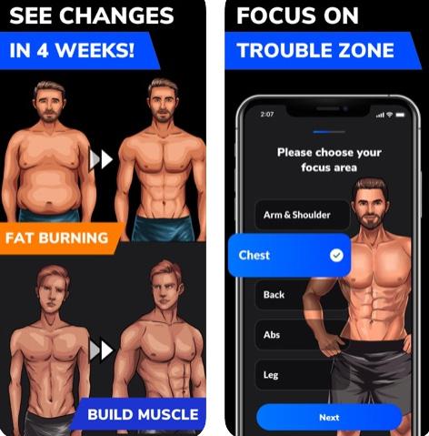 تطبيق Home Workout للتمرين من المنزل