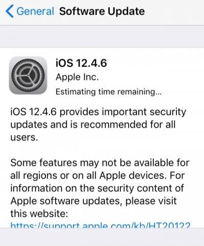 ابل تطلق تحديث iOS 12.4.6 لهواتف الايفون وأجهزة الايباد القديمة!