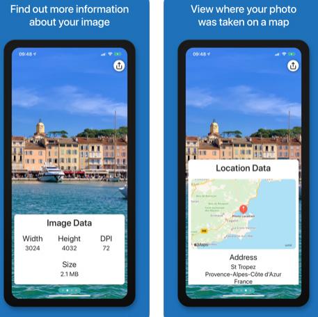 تطبيق Metadata لاستعراض معلومات الصورة