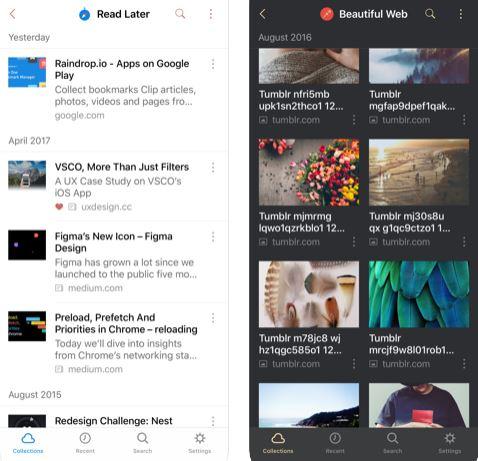 تطبيق Raindrop.io لحفظ صفحات الإنترنت المفضلة