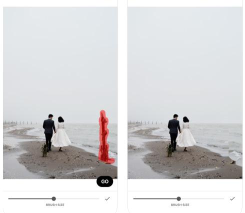 تطبيق Retouch لإزالة أي جزء من الصورة
