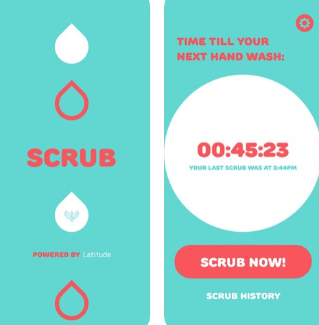 تطبيق SCRUB لتذكيرك بغسيل يديك