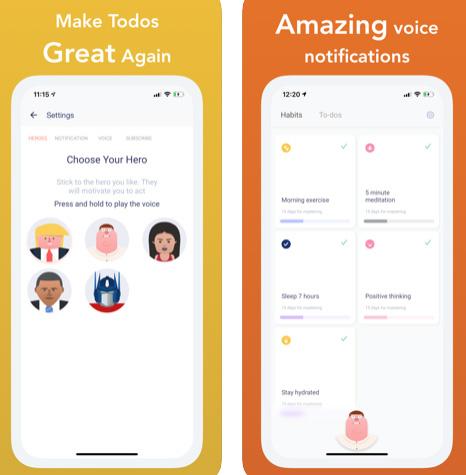 تطبيق Todogram - لإدارة وترتيب المهام اليومية والتنبيه بها بأصوات المشاهير!