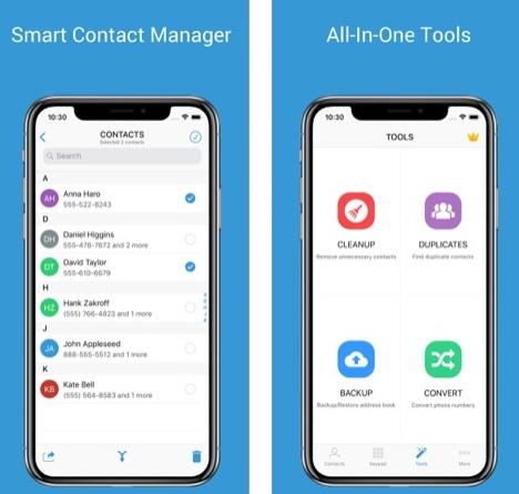 تطبيق 1Contact Pro لإدارة جهات الاتصال