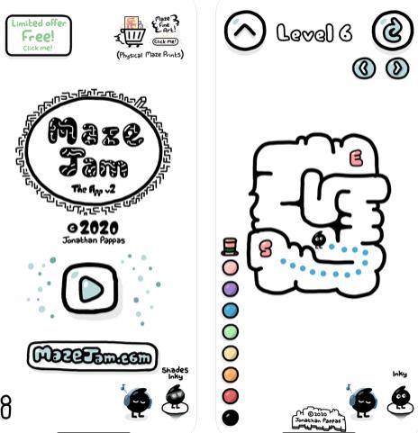 لعبة المتاهات Maze Jam