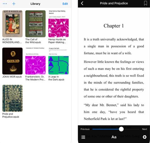 تطبيق قاريء الكتب SReader