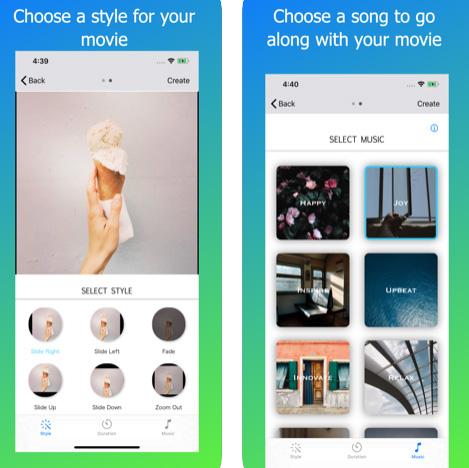 تطبيق SlideShow Maker لعمل مقاطع فيديو مميزة