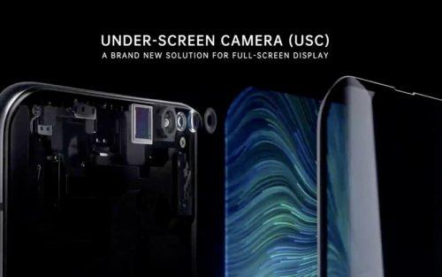 كاميرا أسفل الشاشة