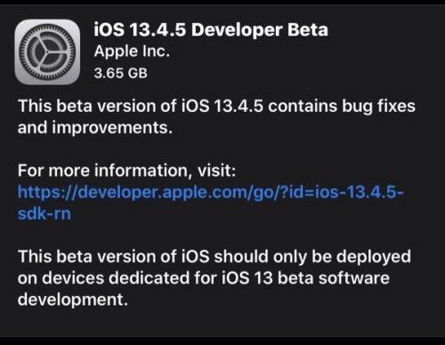 ابل تبدأ في اختبار تحديث iOS 13.4.5 - ما الجديد؟
