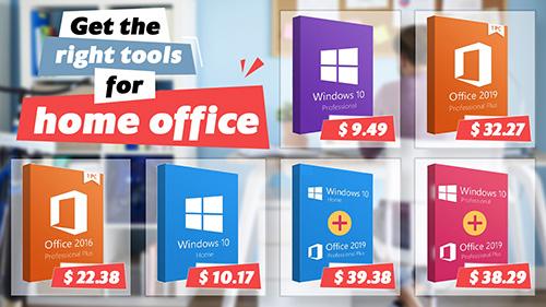 أهم البرامج للعمل من المنزل - ويندوز 10 وحزمة مايكروسوفت أوفيس بأسعار منخفضة!