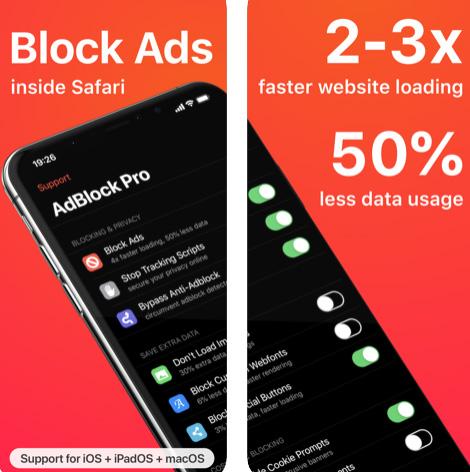 تطبيق AdBlock Pro - إنترنت بدون إعلانات