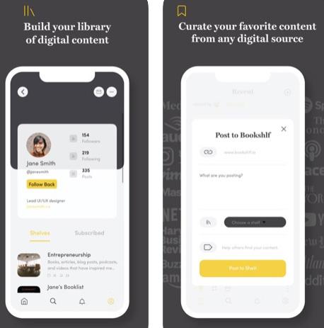 تطبيق Bookshlf لمشاركة الأشياء عبر الإنترنت