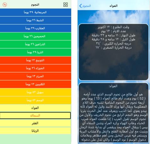 تطبيق الفصول الأربعة - اعرف طوالع النجوم وتغيرات المواسم والطقس بطريقة سهلة!