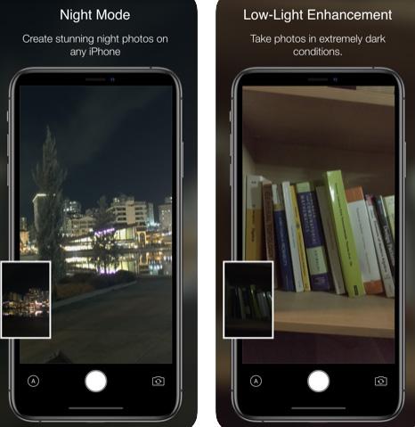 تطبيق Nightcam - التصوير بالوضع الليلي في الايفون