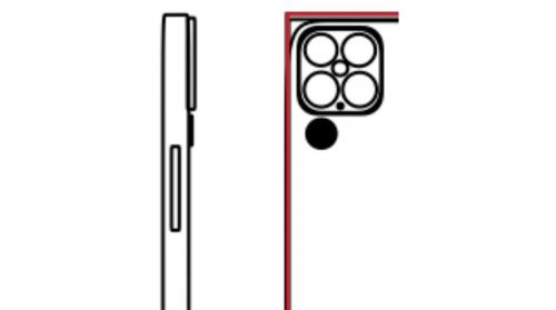 مخطط لشكل الكاميرا المتوقع في ايفون 13