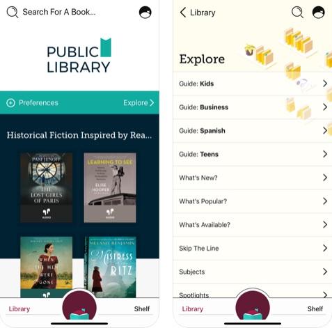 تطبيق Libby مكتبة مجانية