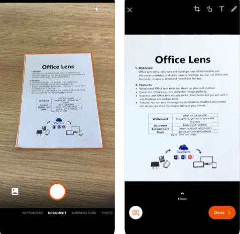 تطبيق Microsoft Office Lens - لتصوير المستندات والأوراق