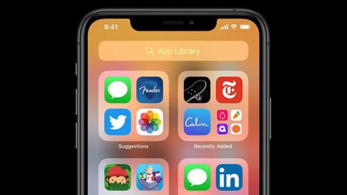 تحديث iOS 14 - مكتبة التطبيقات App Library