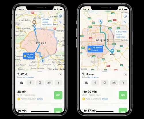 iOS 14 - تطبيق الخرائط