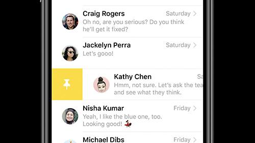 تطبيق الرسائل - iOS 14