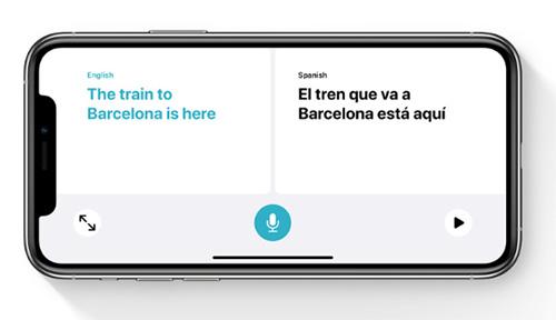iOS 14 - تطبيق الترجمة
