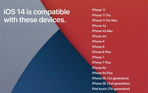 هواتف الايفون المدعومة من تحديث iOS 14