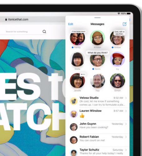 iPadOS 14 - تطبيق الرسائل