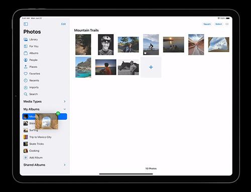 مميزات تحديث iPadOS 14 - تطبيق الصور