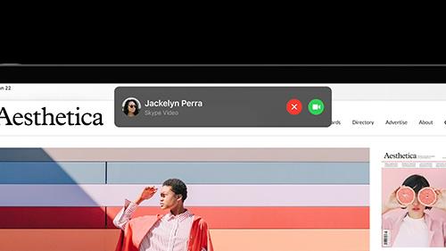 تحديث iPadOS 14 - إشعار استقبال المكالمات